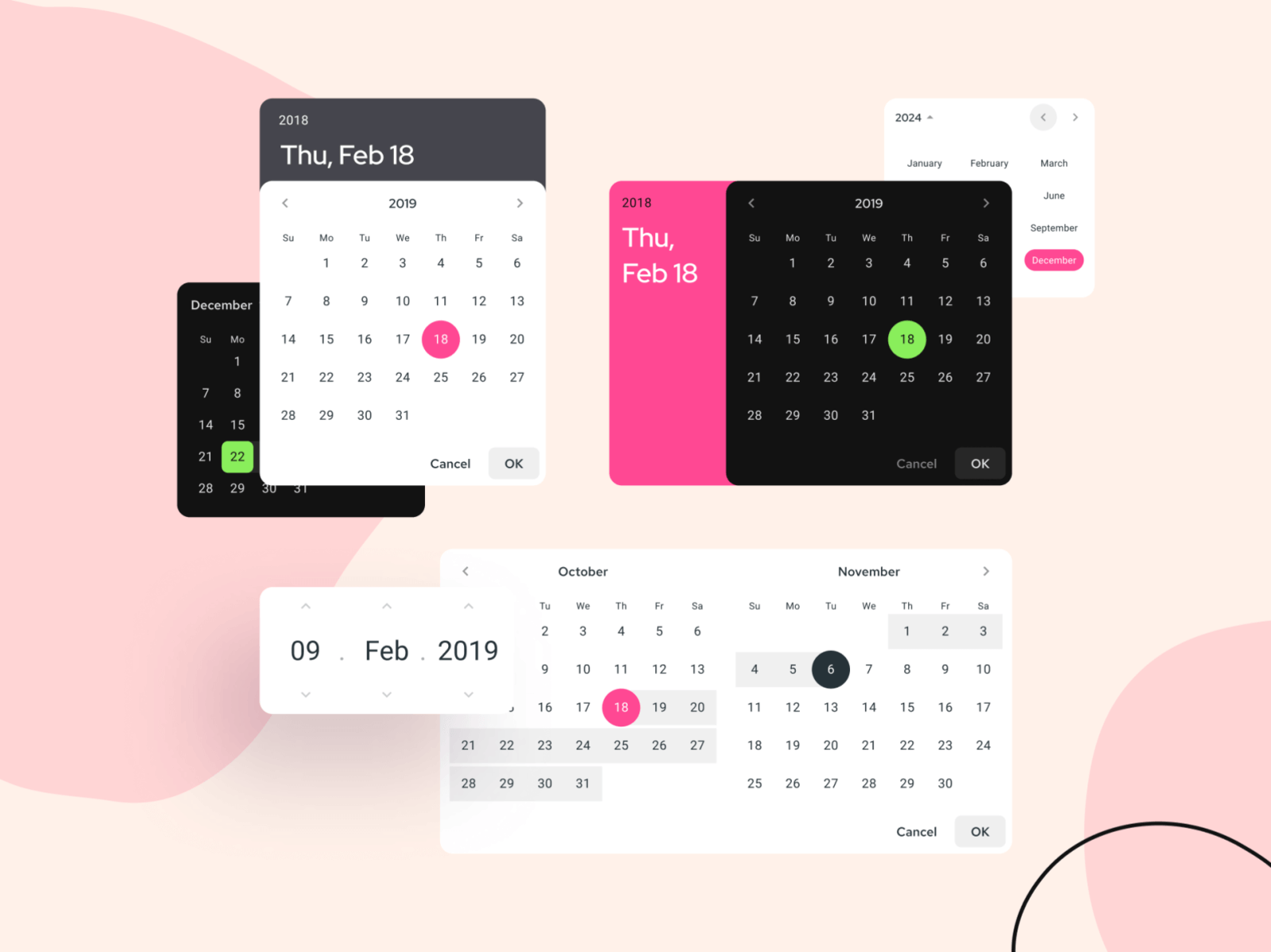 Material Design Datepicker Free Figma Resource Figma Elements