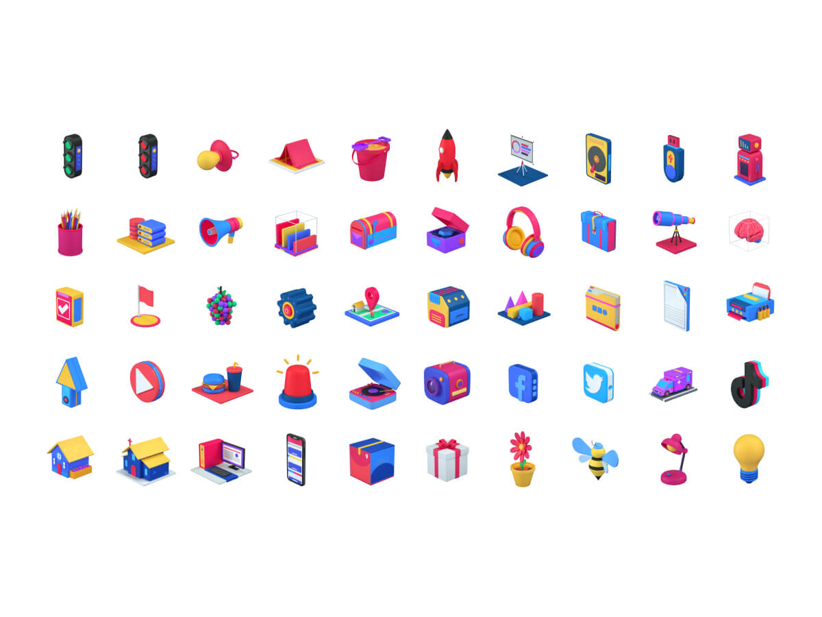 3D Icons Pack for Figma