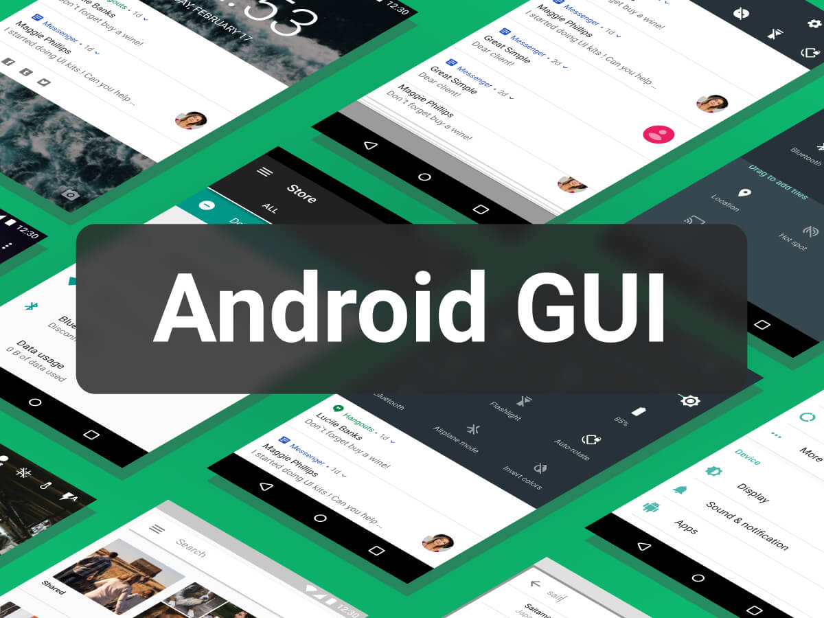 Android 7 Nougat Figma UI Kit