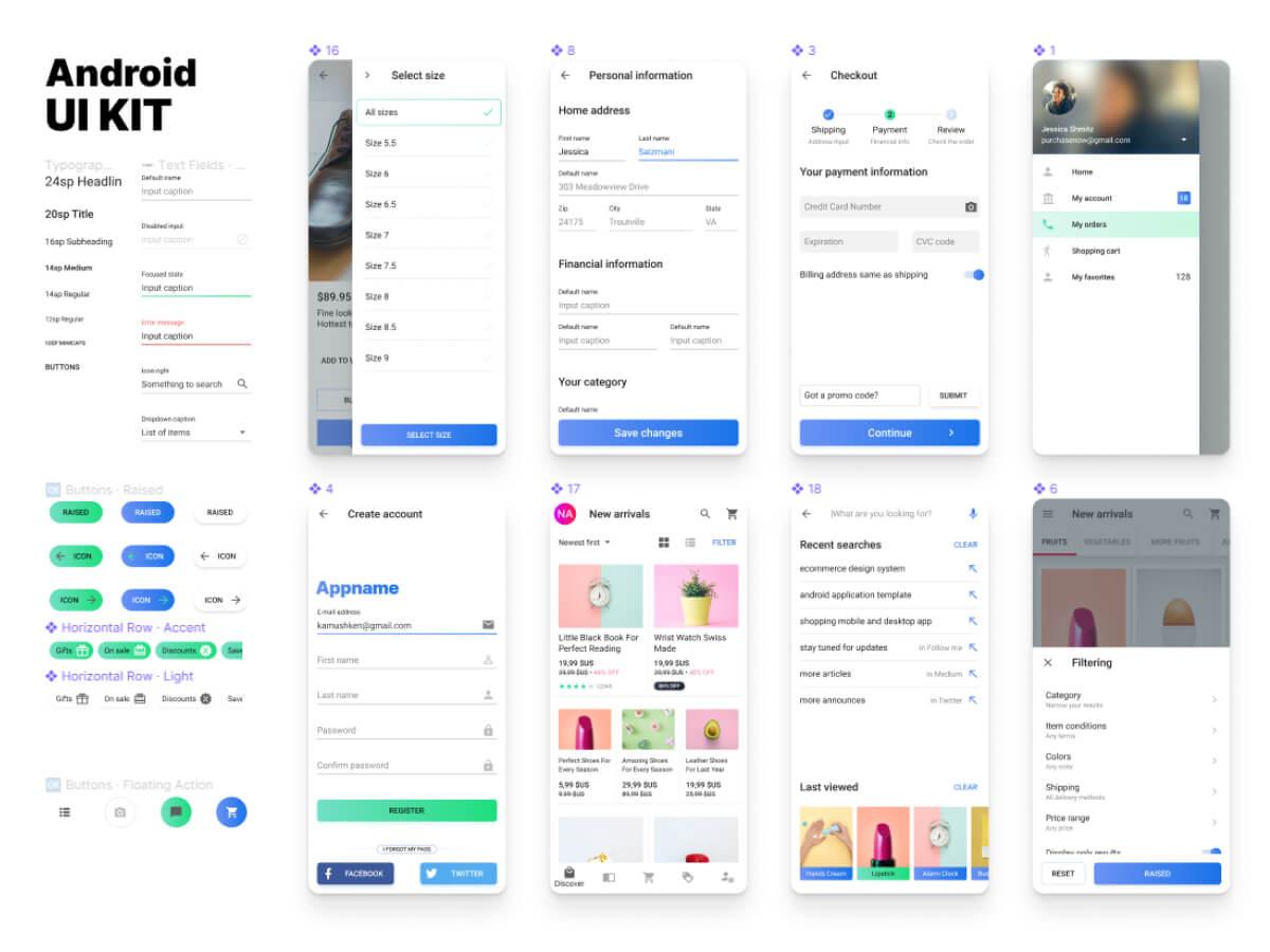Android Figma UI Kit