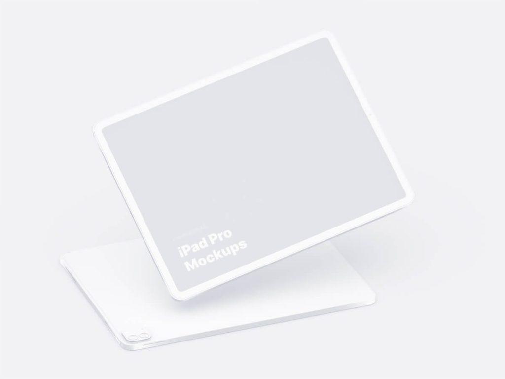 Apple iPad Pro Clay Mockup - Figma Mockup