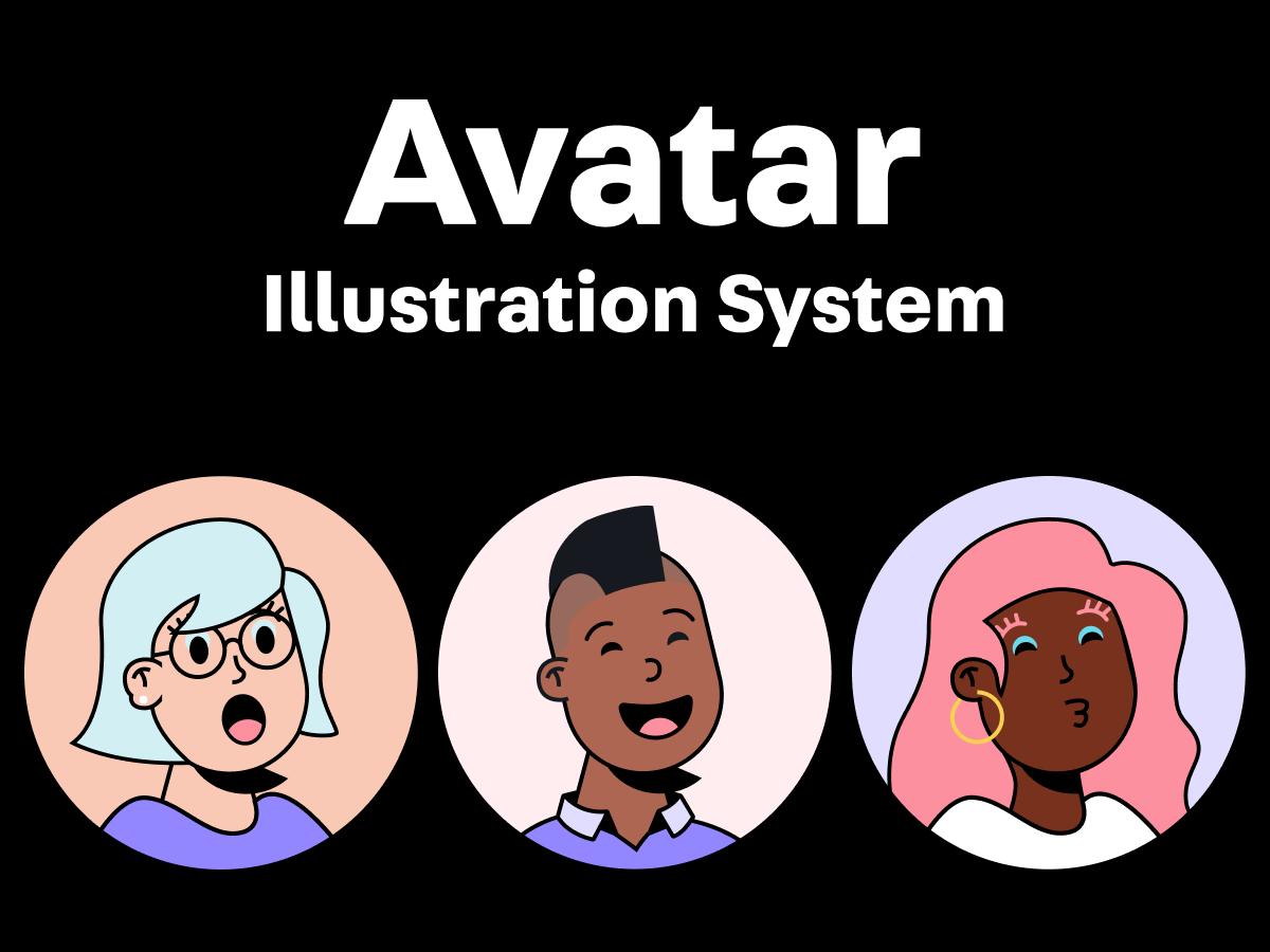 Avatar Illustration System - Figma UI Kit