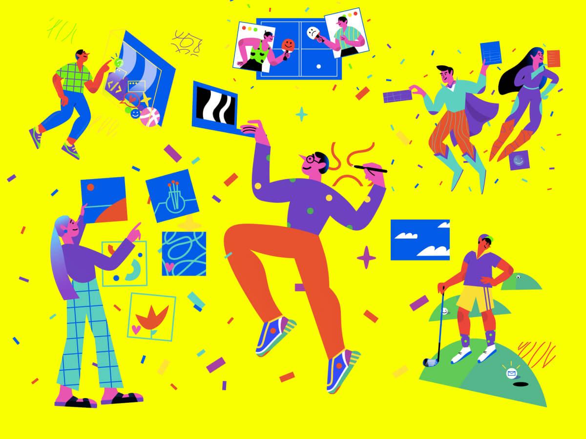 Lifestyle Figma Illustrations