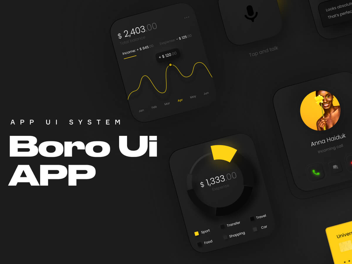 Boro UI for Apple Watch - Figma UI Kit