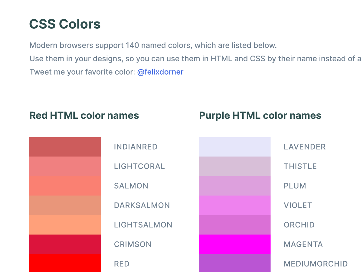 CSS Figma Colors