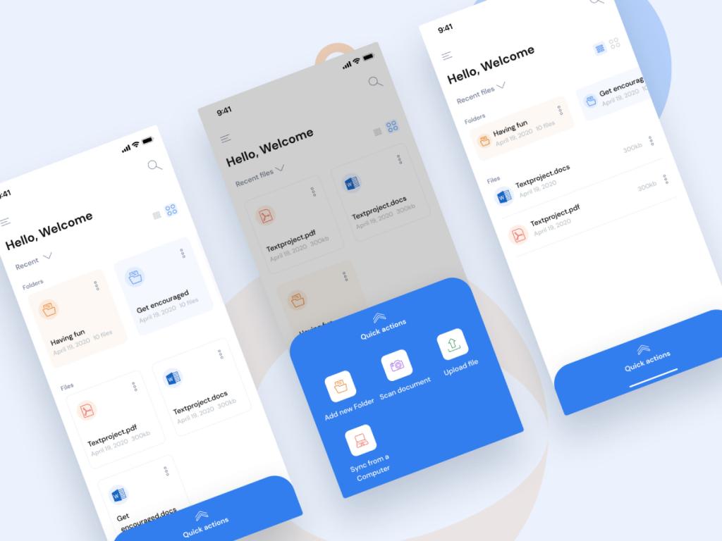 Document Scanner App Figma UI Kit