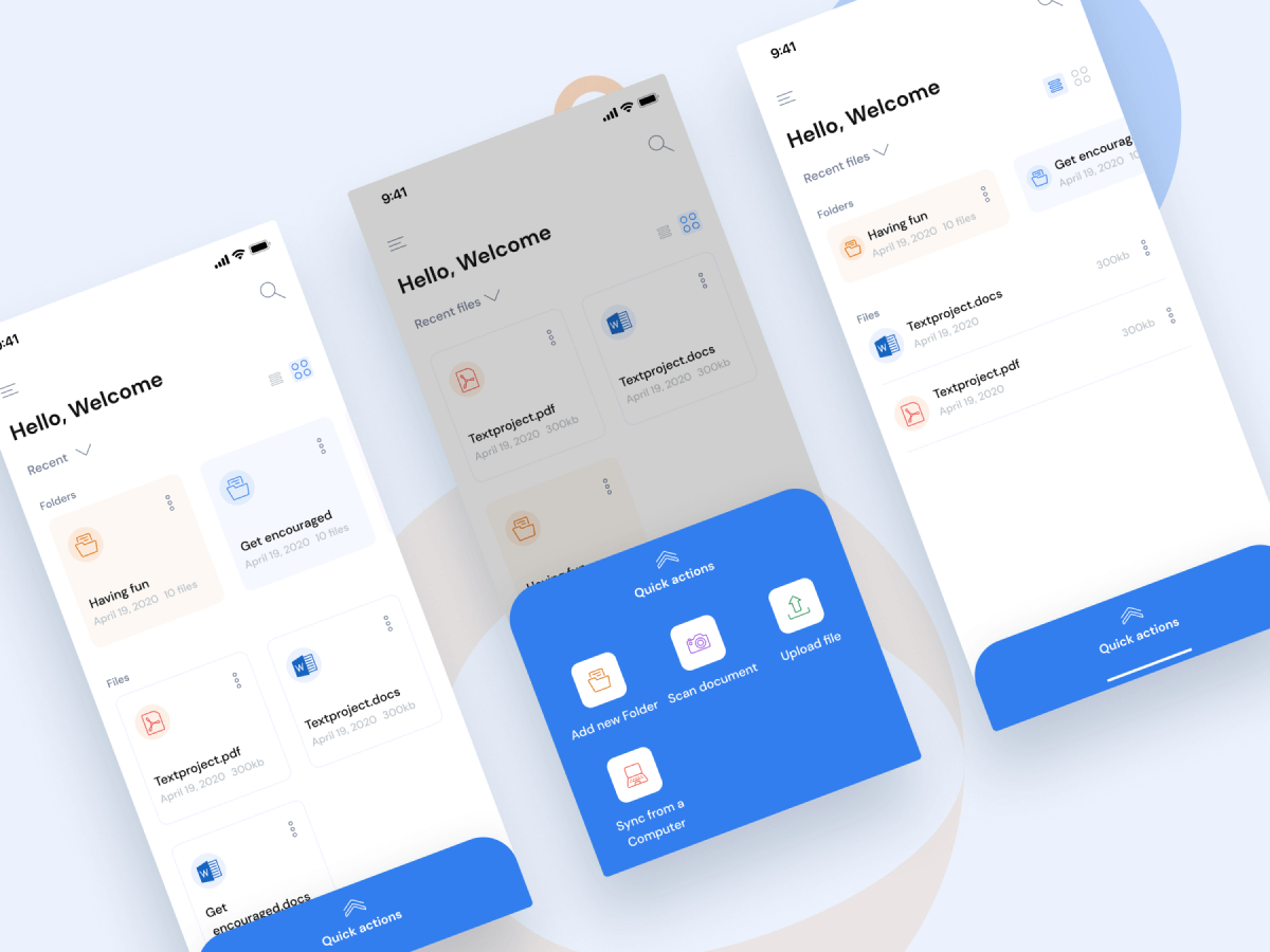 Document Scanner App Figma UI Kit