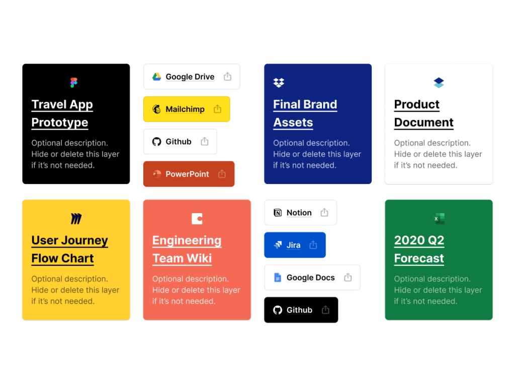 Documentation Cards & Buttons Figma