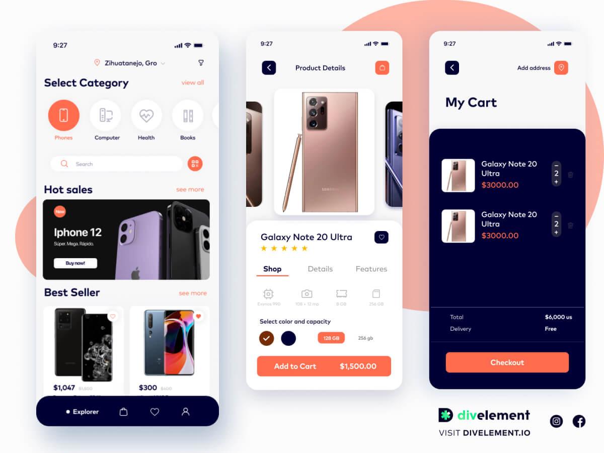 E-Commerce App Figma UI Kit