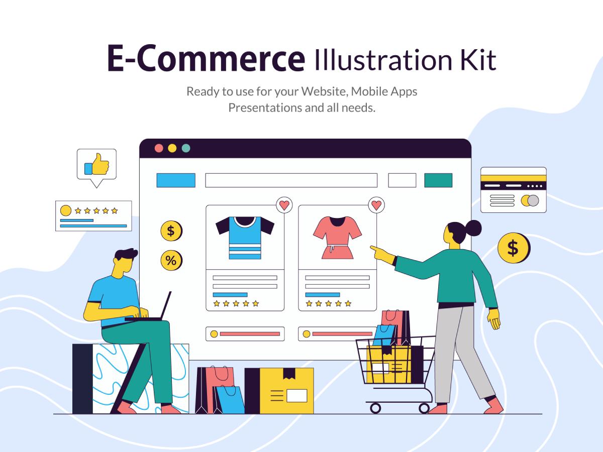 E-Commerce Figma Illustrations Kit