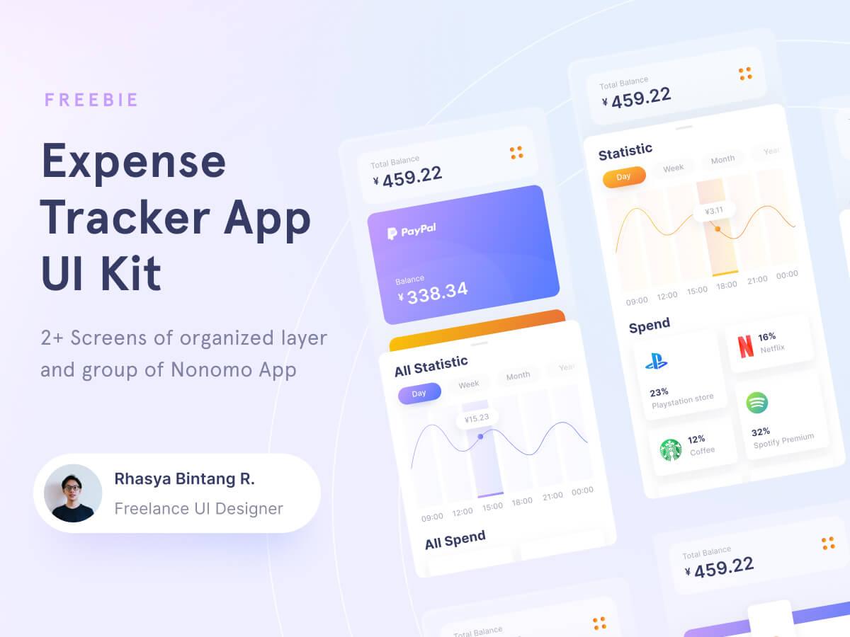 Expense Tracker Figma UI Kit