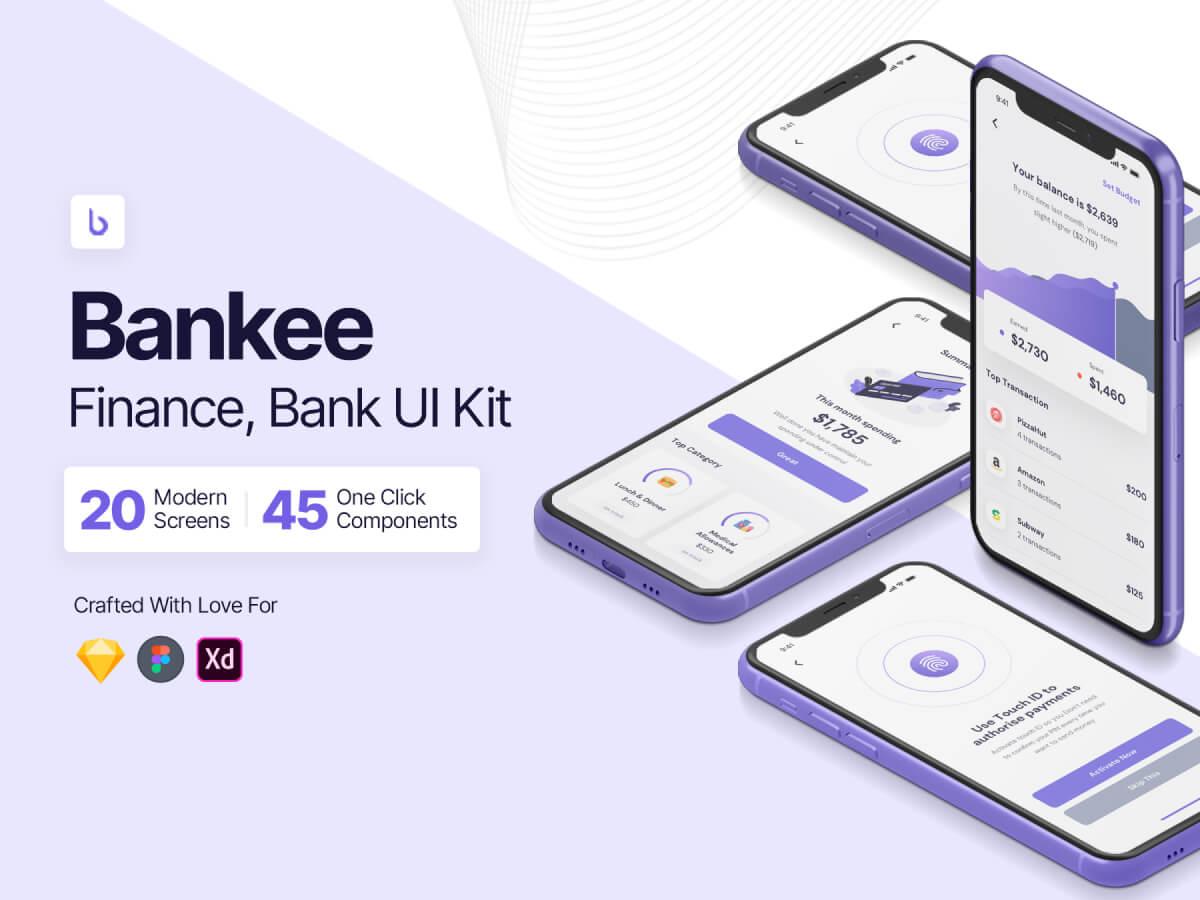 Finance Bank & Wallet Figma UI Kit