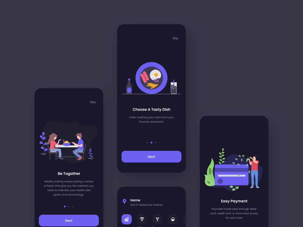 Food Delivery App Figma UI Kit