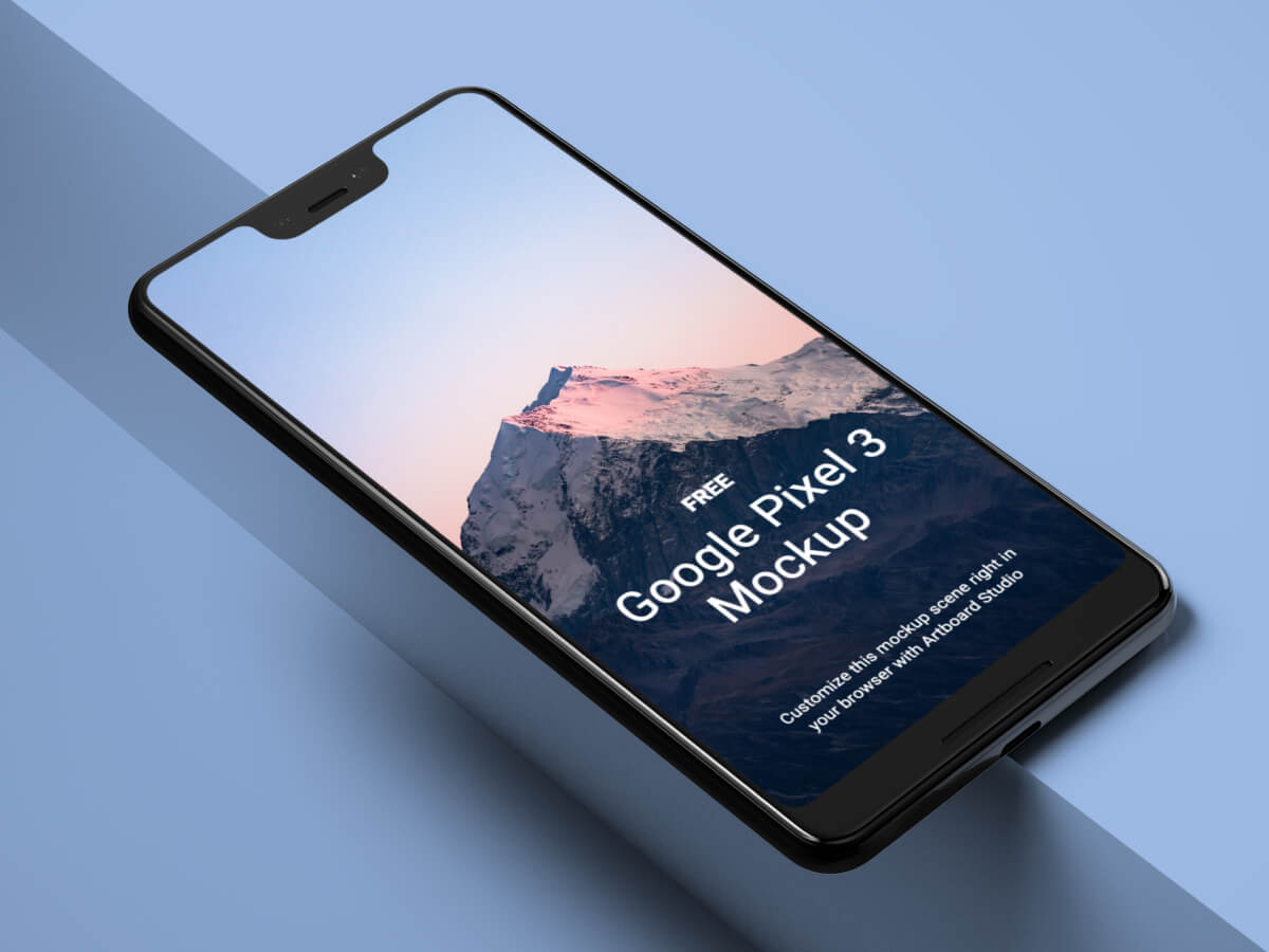 Google Pixel 3 Figma Mockup