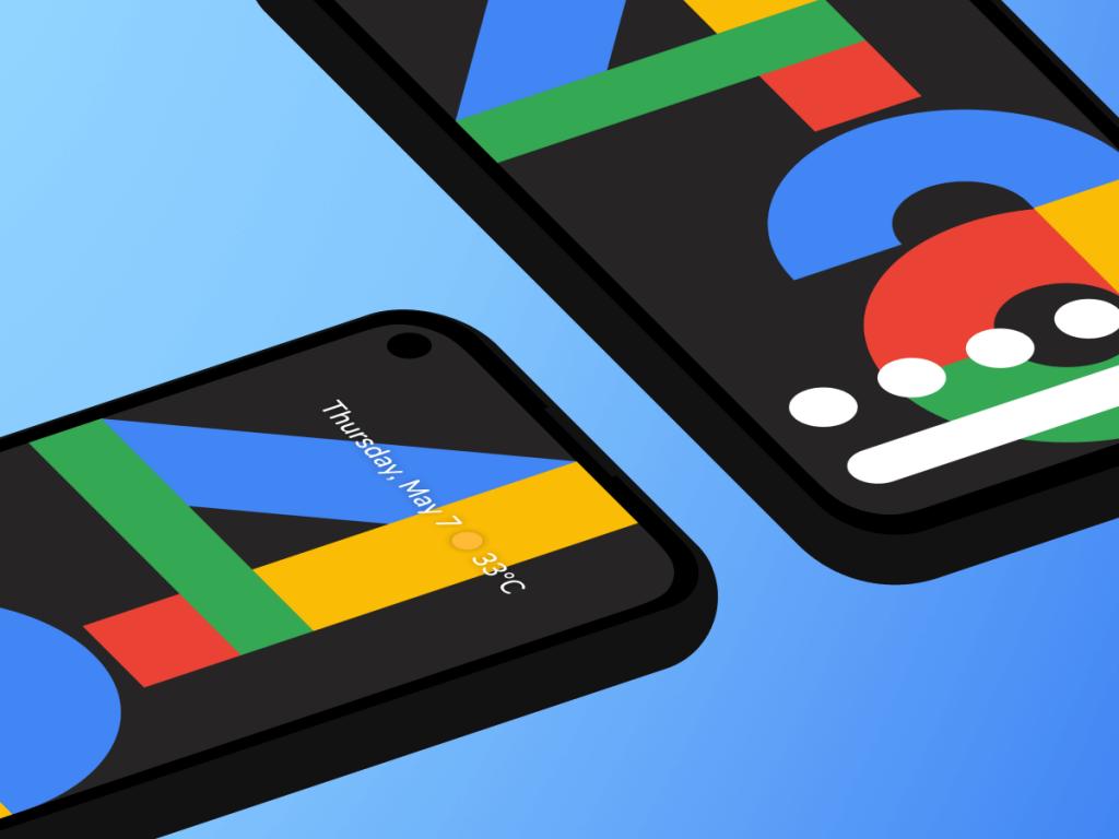 Google Pixel 4 Isometric Figma Mockup