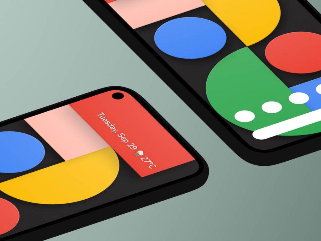 Google Pixel 5 Isometric Figma Mockup