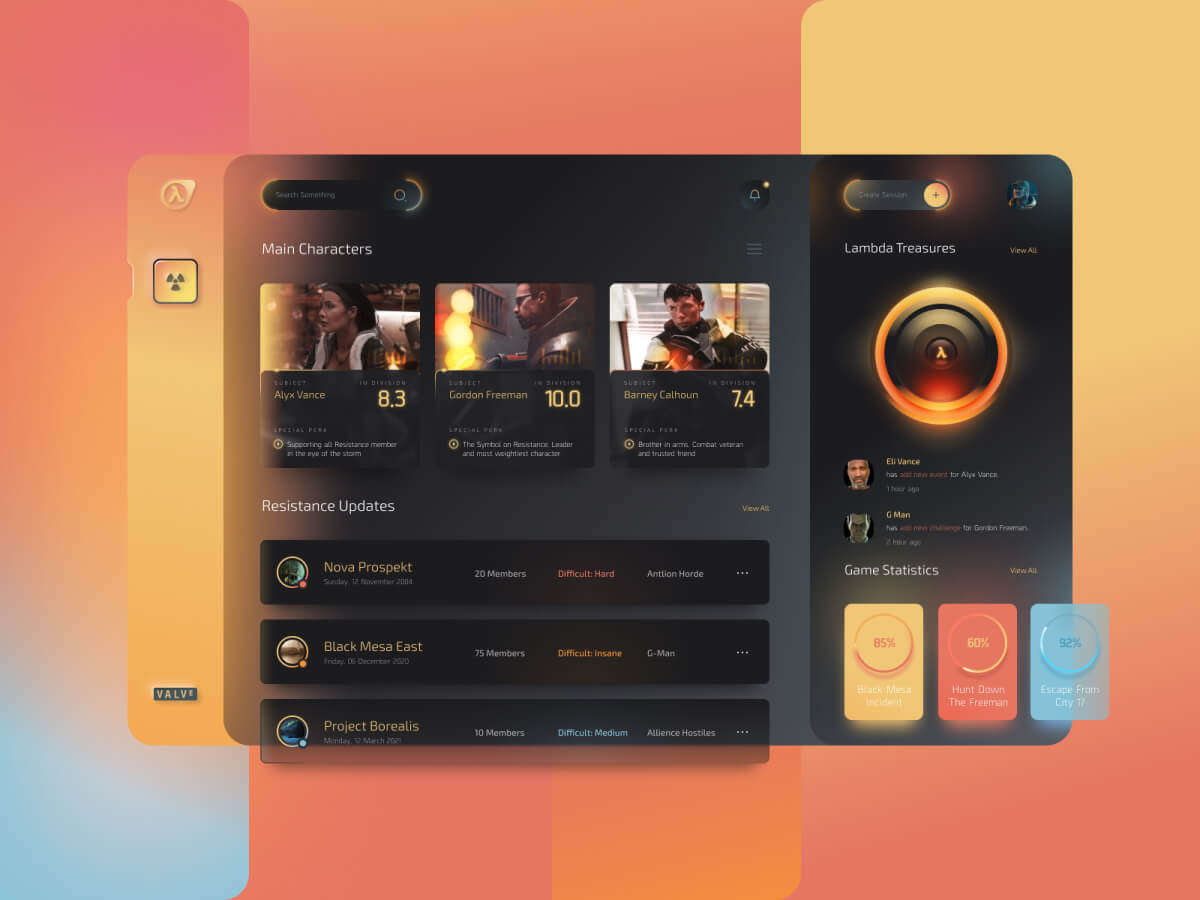 Half-Life Dashboard Figma UI Kit