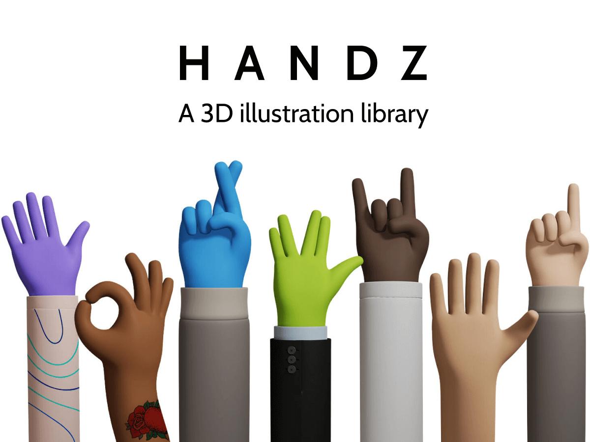 Handz 3D Figma Illustrations