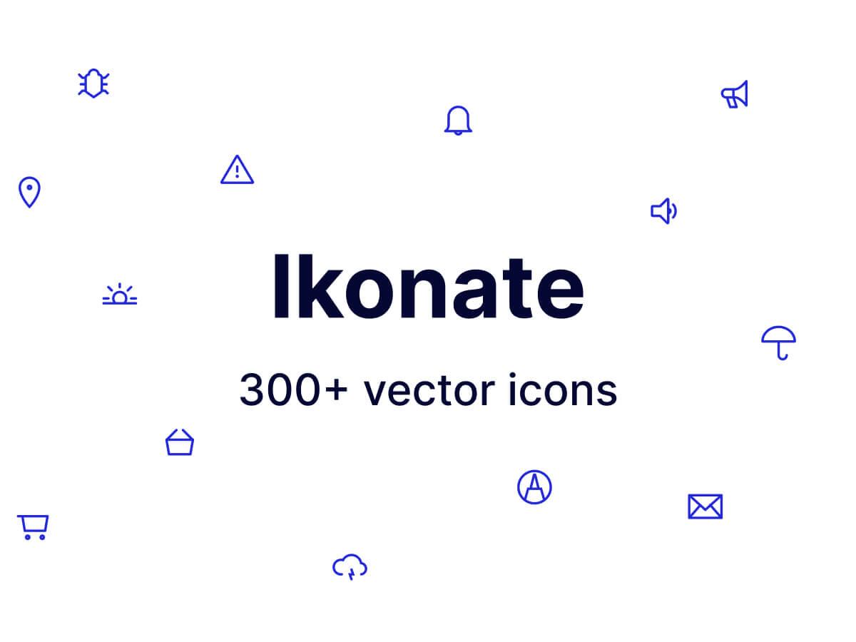 Ikonate 300+ Vector Icons for Figma