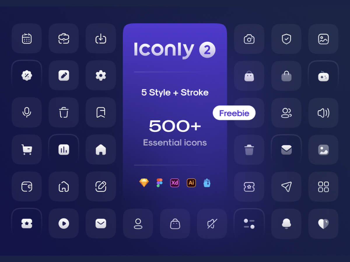 Iconly 2 - Essential icons for Figma