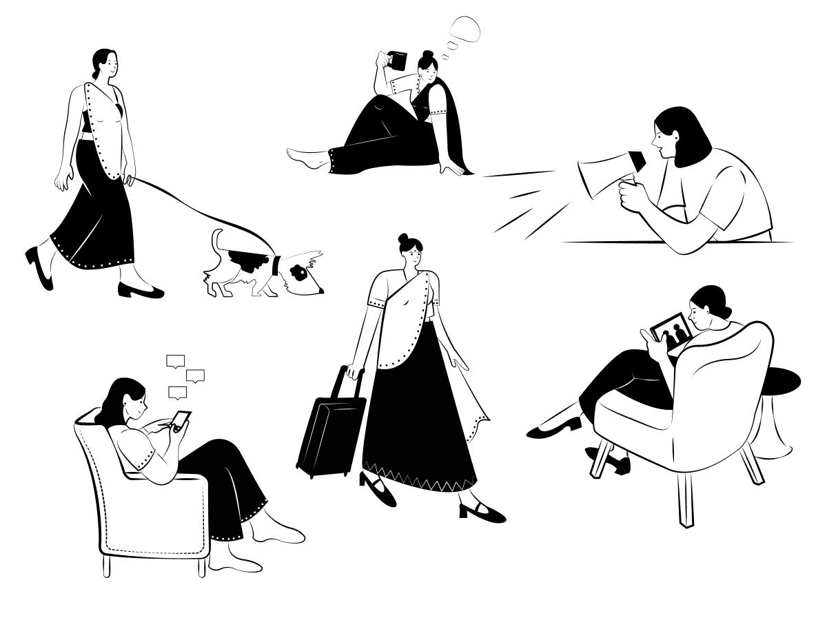 Indian Doodle Figma Illustration Pack