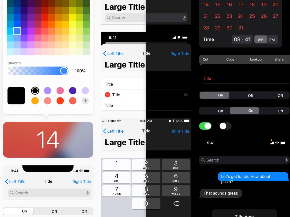 iOS 14 Figma UI Kit