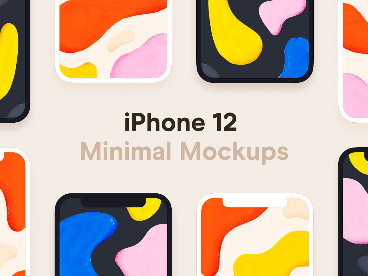 iPhone 12 Minimal Figma Mockups