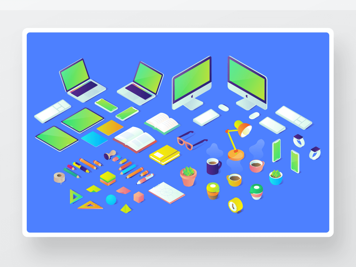 Isometric Illustrations for Figma