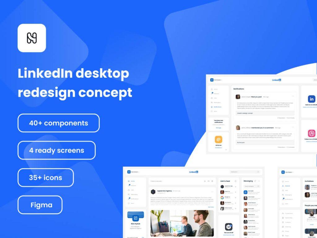 LinkedIn Redesign Concept Figma