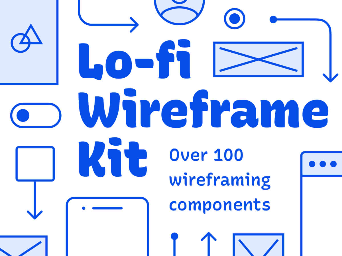 Lo-fi Wireframe Figma Kit