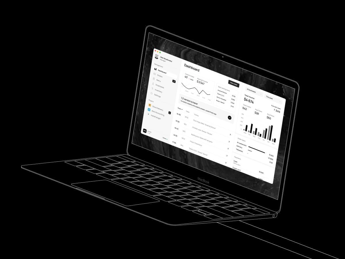Macbook 12 Outline Figma Mockup