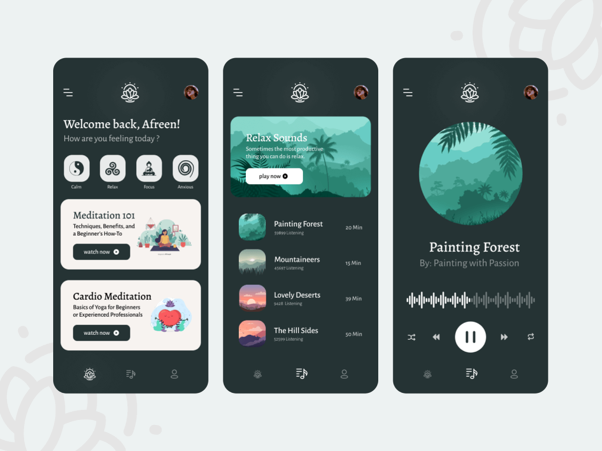 Meditation App Figma UI Kit
