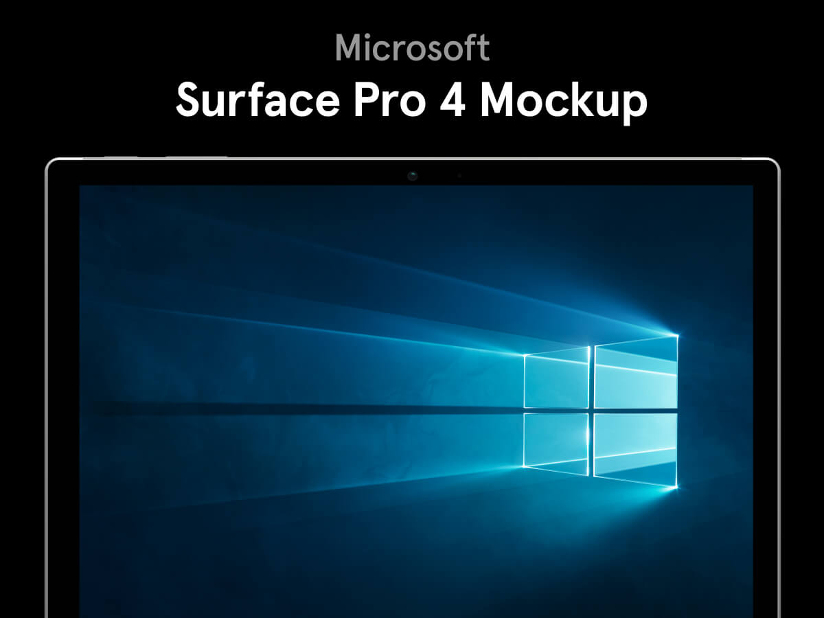 Microsoft Surface Pro 4 Figma Mockup