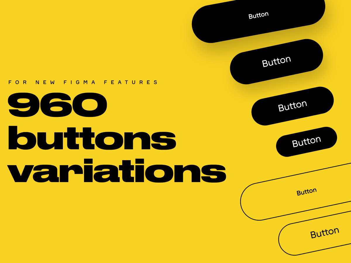 Minimal Buttons Figma UI Kit