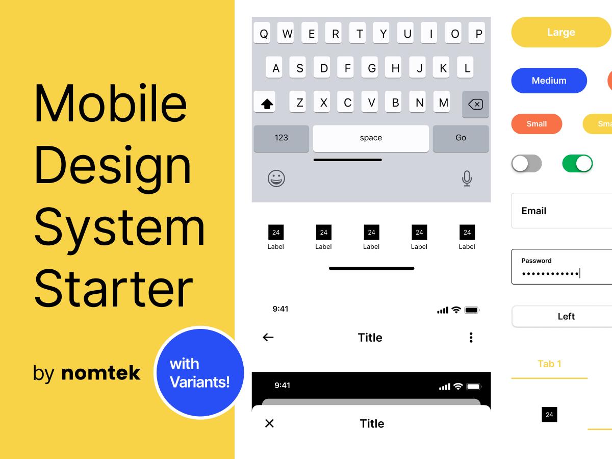 Mobile Design System UI Kit Figma