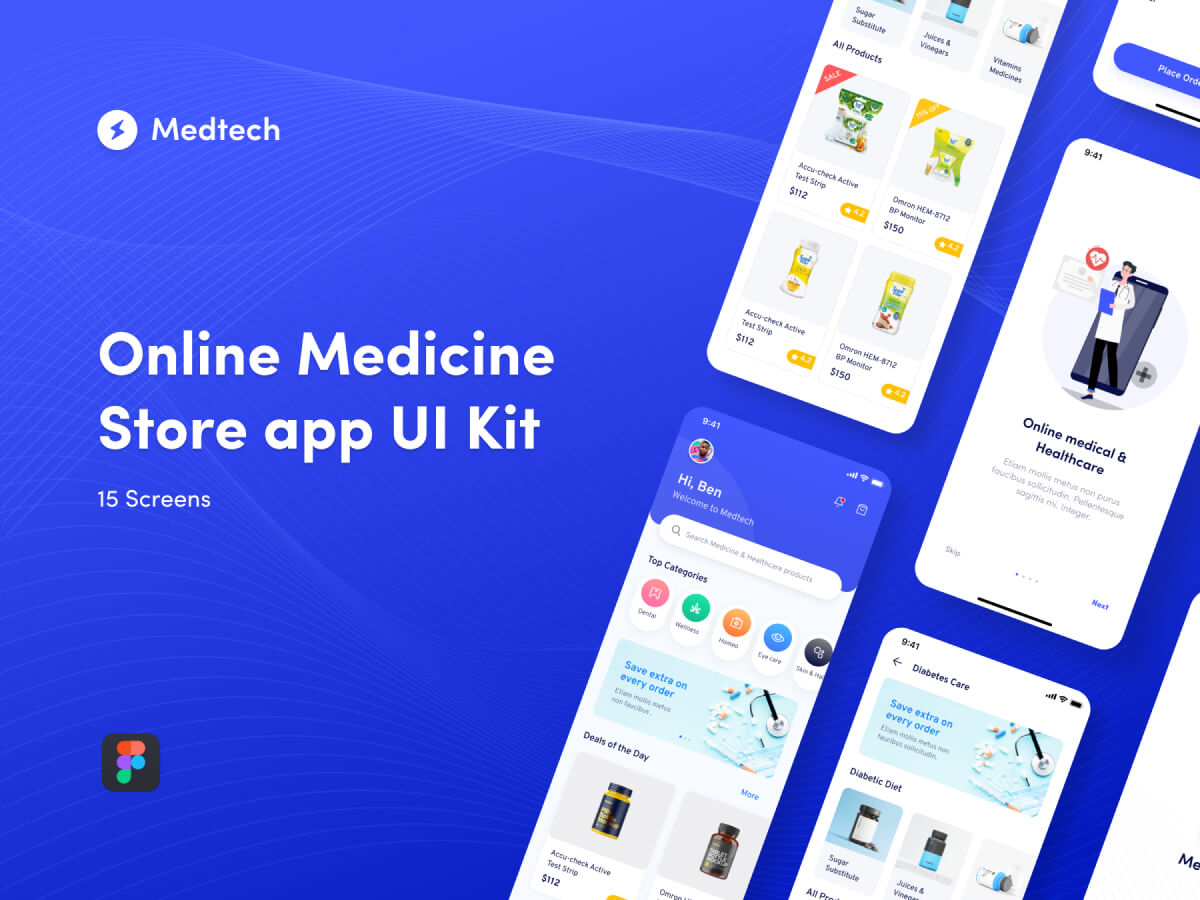Online Medicine Store UI Kit