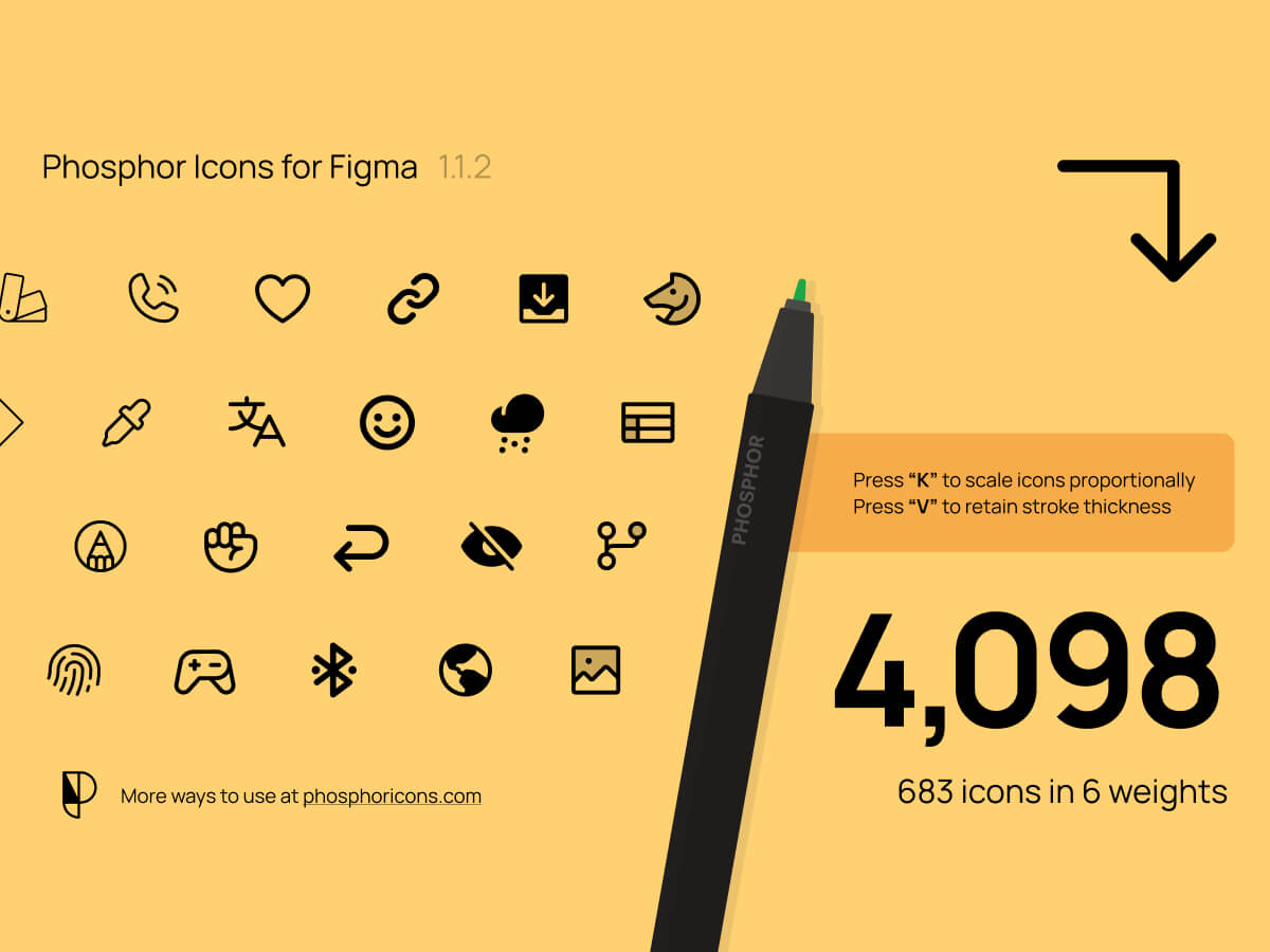 Phosphor Icons for Figma