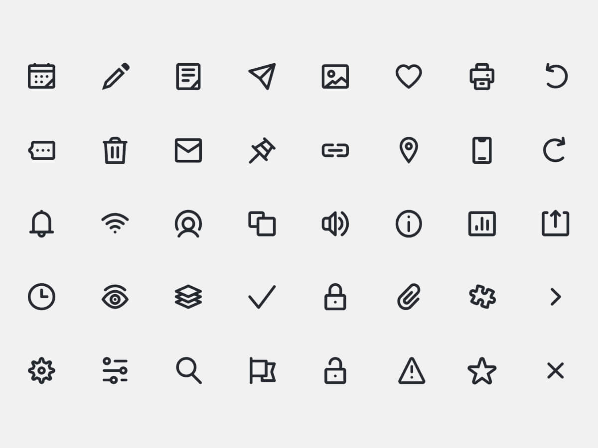 UI Primitive Icons for Figma