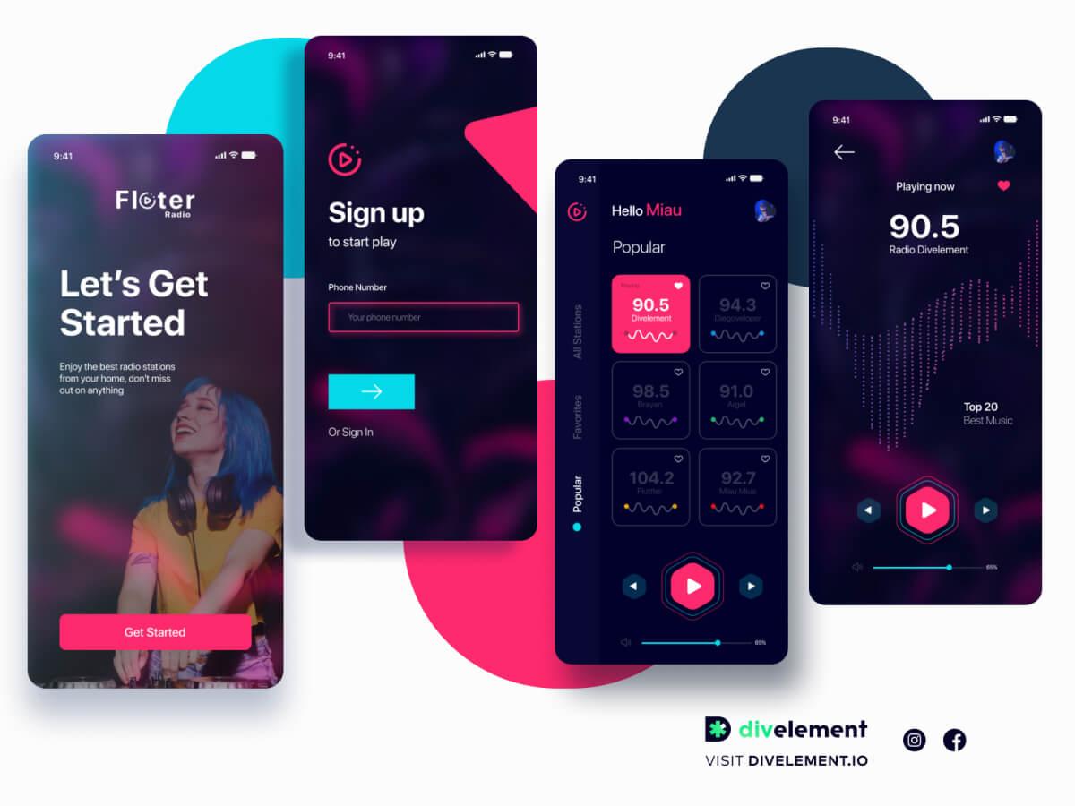Radio App Concept Figma UI Kit