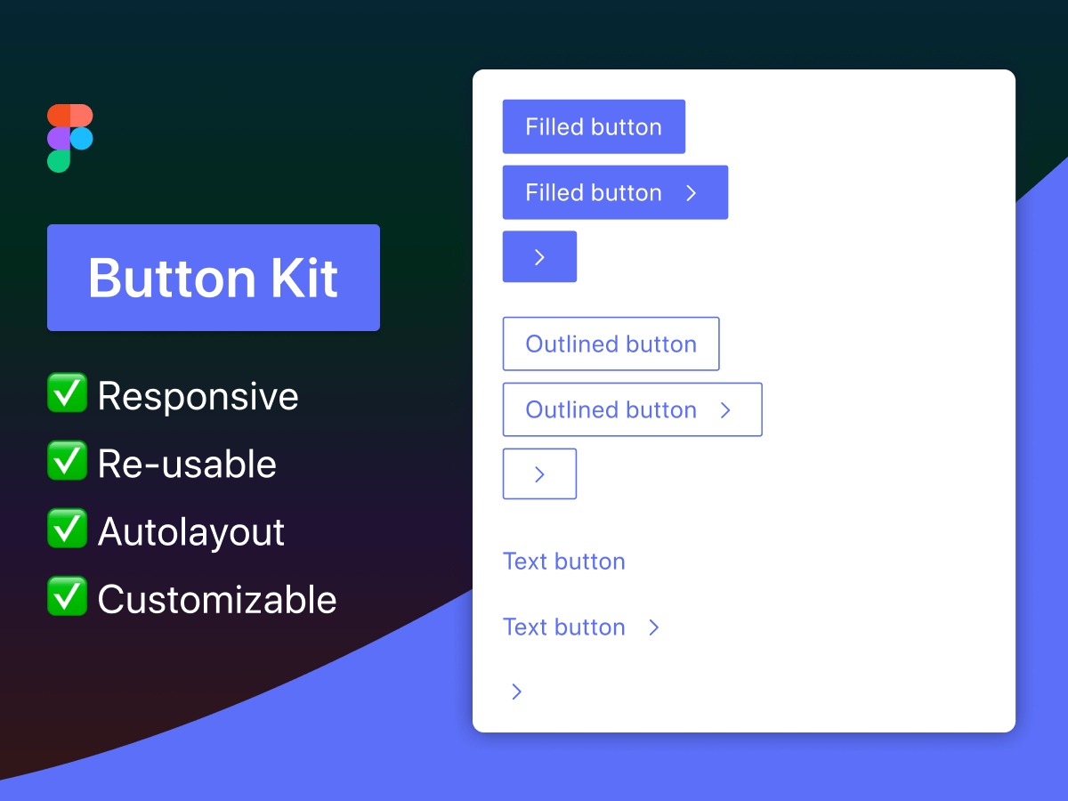 Responsive Button Kit Figma