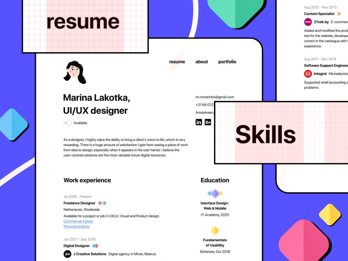 Minimal CV/Resume Figma Template