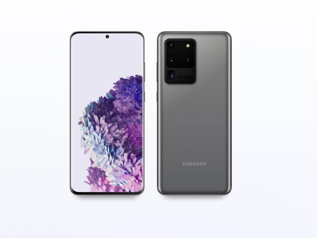 Samsung Galaxy S20 Ultra Figma Mockup