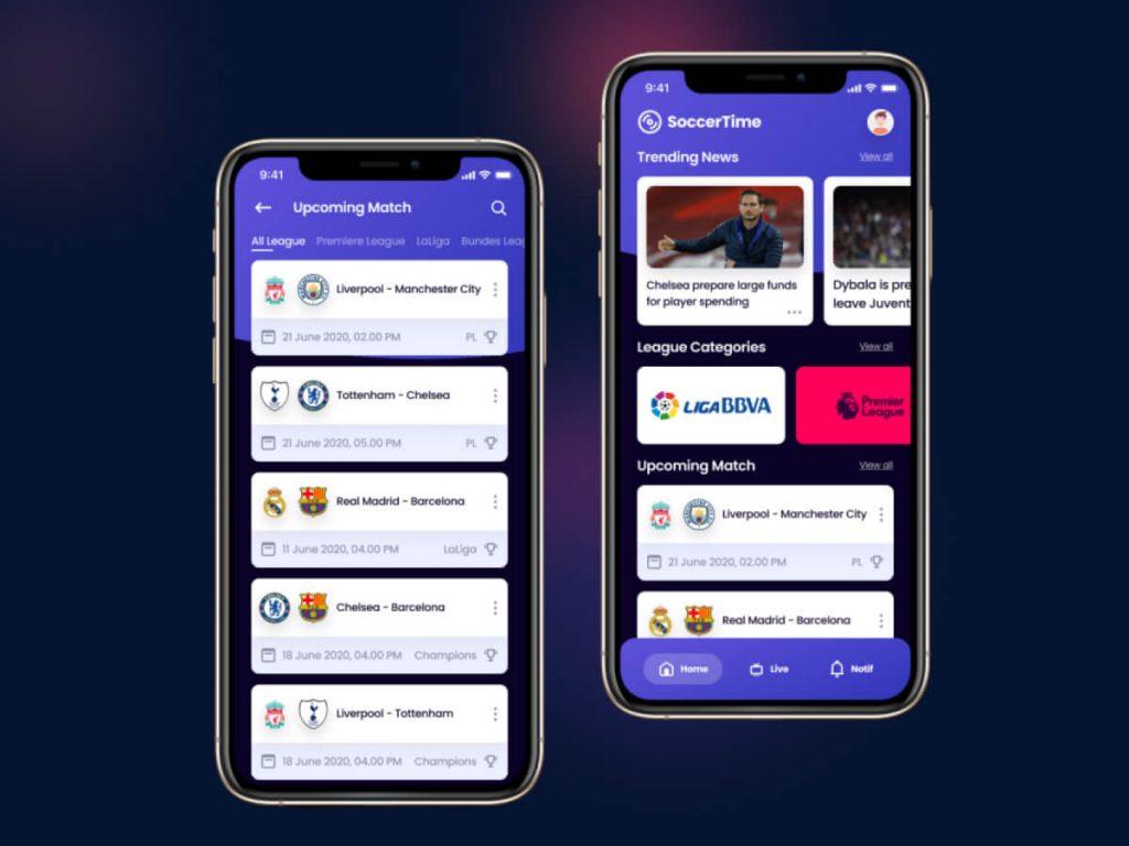 Soccer App Figma UI Kit