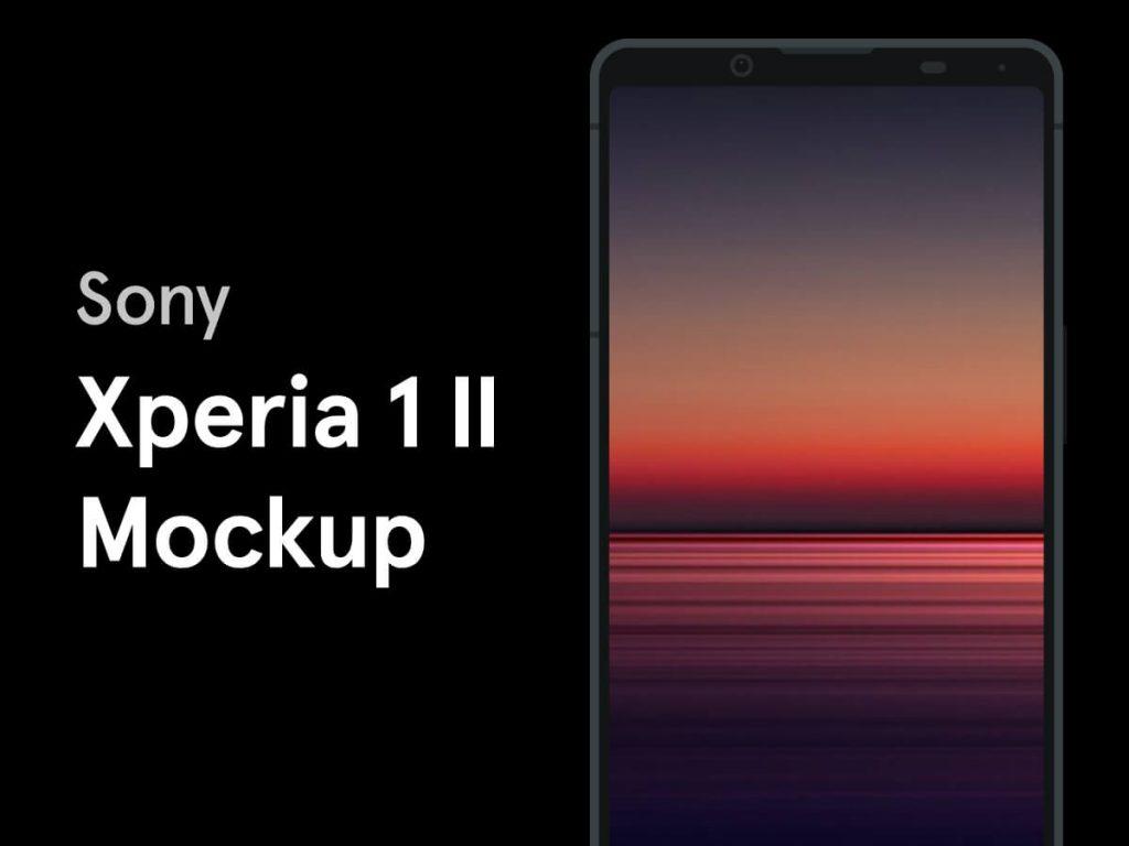 Sony Xperia 1 II Figma Mockup