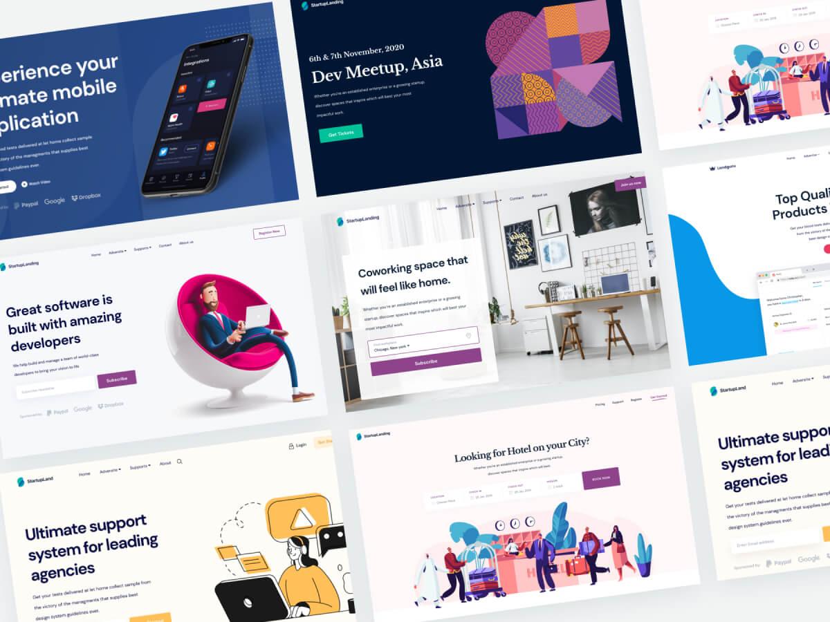 Startup Landing Page Figma UI Kit