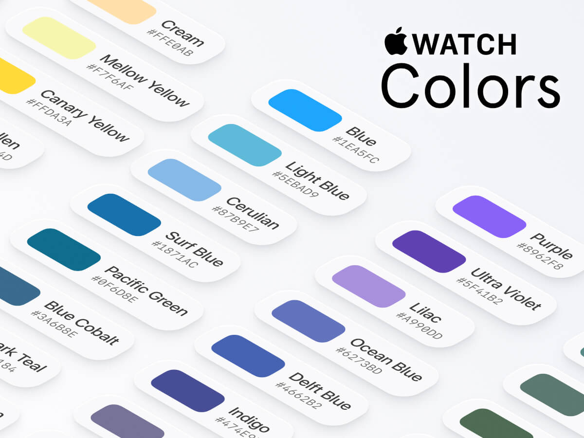 WatchOS Colors Figma