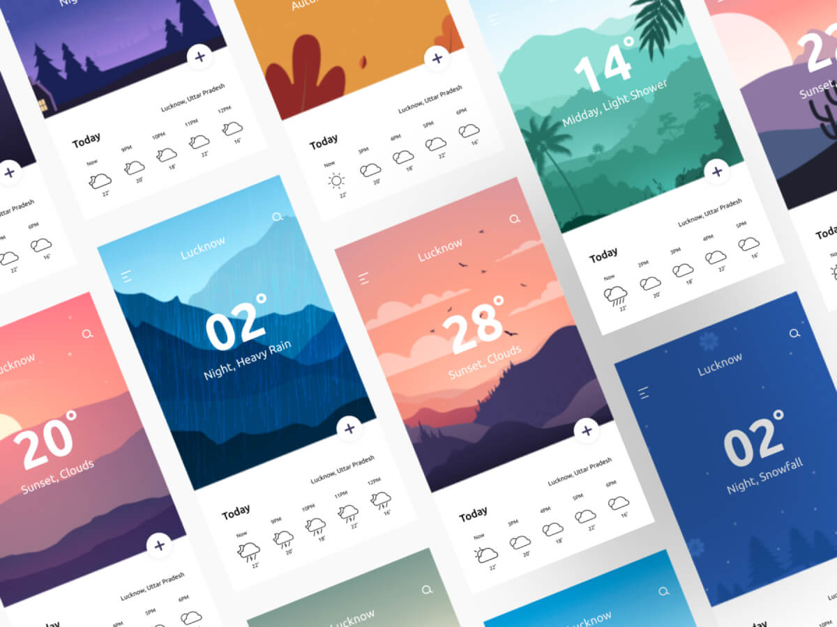 Weather App Cards Figma UI Kit