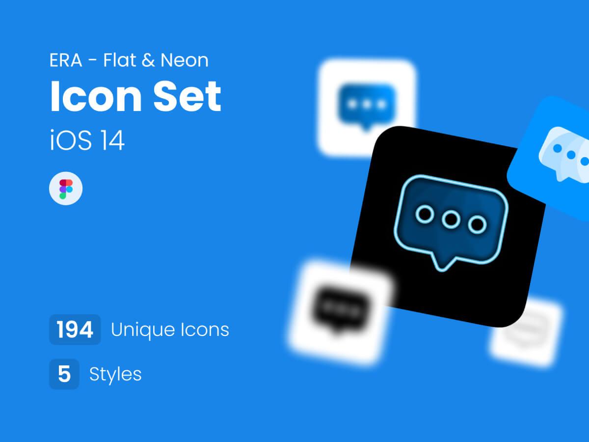 Flat & Neon App Icon Set