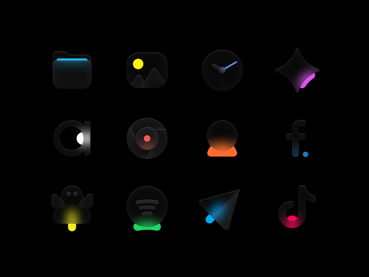 Glossy Icons for iOS14