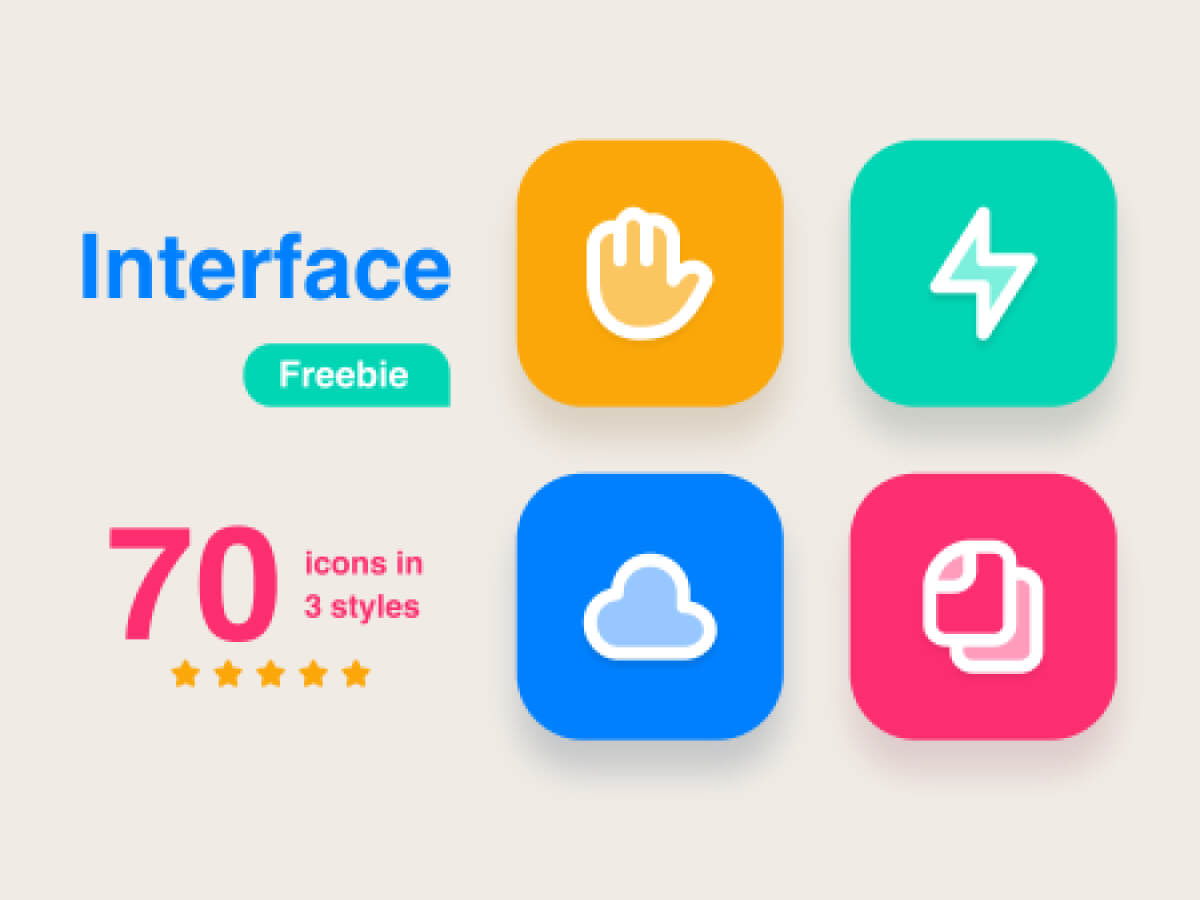 Multiplatform Interface Icon Set